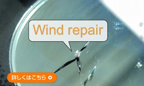 フロントガラスの傷修復(ウインドリペア)の案内画像