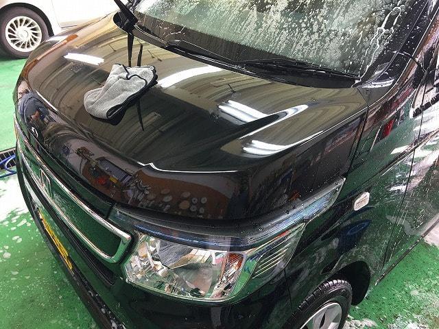 塗装ミスト、鉄粉除去作業前の洗車画像